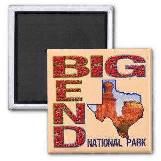Big Bend National Park Square Magnet