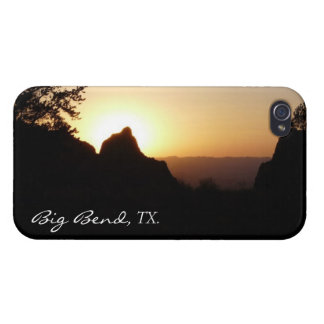 "Big Bend National Park TX-""Sunset at Window Trail"" Cases For iPhone 4"