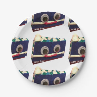 Big Berry Cake Face Paper Plates 7 Inch Paper Plate