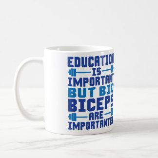 Big Biceps are Importanter than Education Basic White Mug