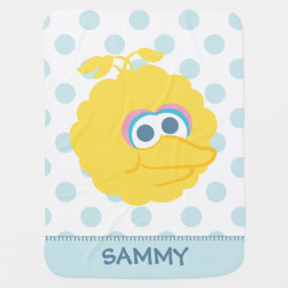 Big Bird Baby Big Face | Add Your Name Baby Blanket