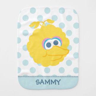 Big Bird Baby Big Face | Add Your Name Burp Cloth