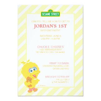 Big Bird Baby Birthday 13 Cm X 18 Cm Invitation Card