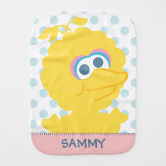 Big Bird Baby Body | Add Your Name Burp Cloth