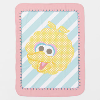 Big Bird Baby Polka Dot Big Face Baby Blanket