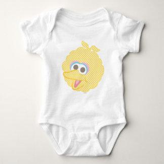 Big Bird Baby Polka Dot Big Face Baby Bodysuit