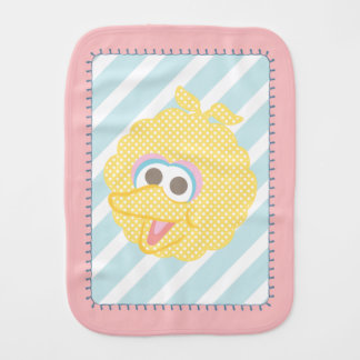 Big Bird Baby Polka Dot Big Face Burp Cloth