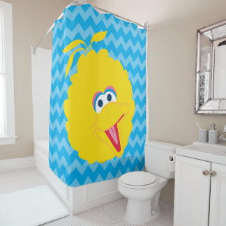 Big Bird Face Shower Curtain