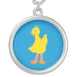 Big Bird Graphic Round Pendant Necklace