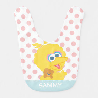 Big Bird Holding Teddy Bear | Add Your Name Bib