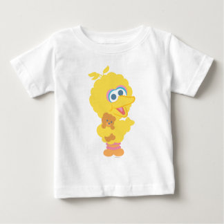 Big Bird Holding Teddy Bear Baby T-Shirt