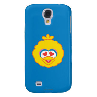 Big Bird Smiling Face with Heart-Shaped Eyes Galaxy S4 Case