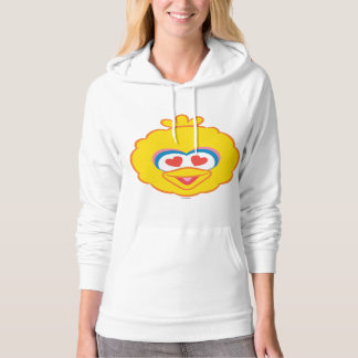 Big Bird Smiling Face with Heart-Shaped Eyes Hoodie