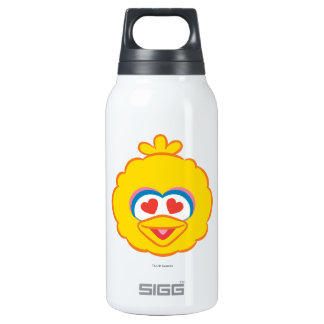 Big Bird Smiling Face with Heart-Shaped Eyes Insulated Water Bottle