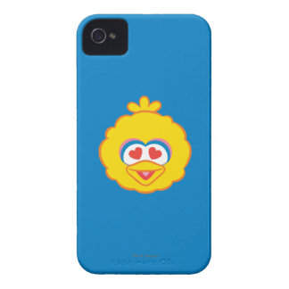 Big Bird Smiling Face with Heart-Shaped Eyes iPhone 4 Covers