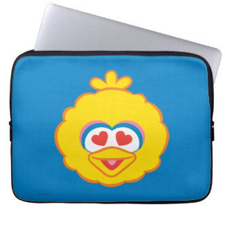 Big Bird Smiling Face with Heart-Shaped Eyes Laptop Sleeve