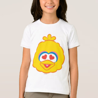 Big Bird Smiling Face with Heart-Shaped Eyes T-Shirt