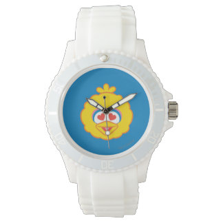 Big Bird Smiling Face with Heart-Shaped Eyes Watch