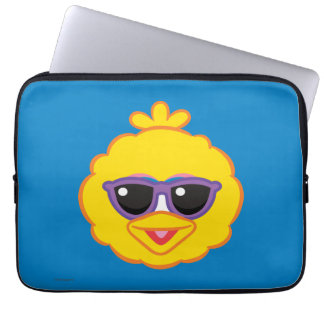 Big Bird Smiling Face with Sunglasses Computer Sleeve