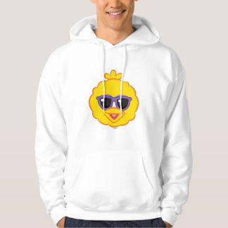 Big Bird Smiling Face with Sunglasses Hoodie