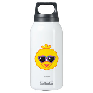 Big Bird Smiling Face with Sunglasses Insulated Water Bottle