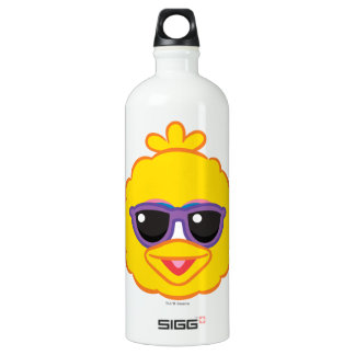 Big Bird Smiling Face with Sunglasses Water Bottle