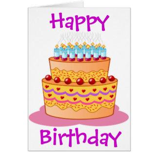 Big Birthday Cake Greeting Card
