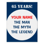 Big Birthday card for men   Extra large size