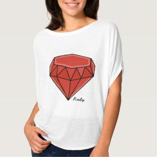 Big Birthstone series –Ruby Tee Shirt