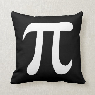 Big black and white pi symbol custom pillow