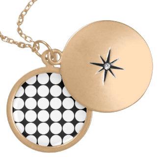 Big Black and White Polka Dots Circles Pattern Custom Jewelry