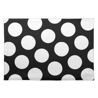 Big Black and White Polka Dots Place Mat
