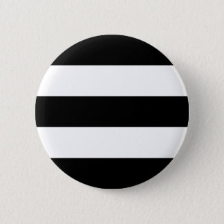 Big Black and White Stripes 6 Cm Round Badge