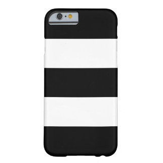 Big Black and White Stripes Barely There iPhone 6 Case