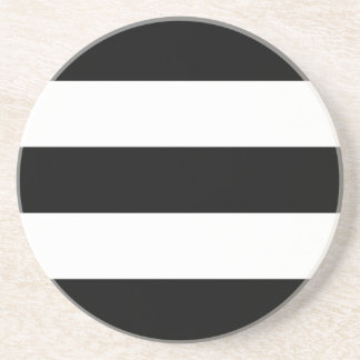 Big Black and White Stripes Drink Coasters