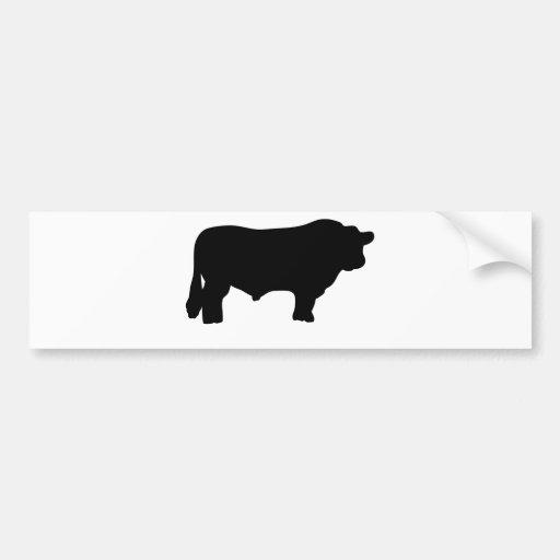 big black angus bull bumper sticker zazzle. Black Bedroom Furniture Sets. Home Design Ideas