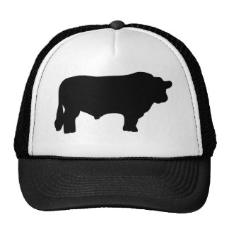 big black angus bull cap