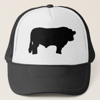 big black angus bull trucker hat
