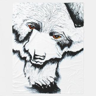 Big Black Bear Warm Fleece Blanket