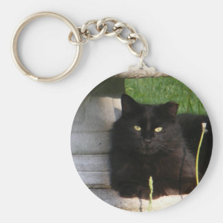Big Black Cat ~ keychain