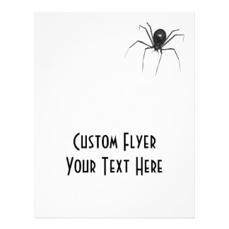 Big Black Creepy 3D Spider 21.5 Cm X 28 Cm Flyer