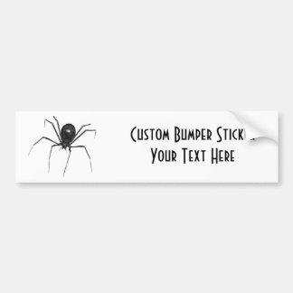 Big Black Creepy 3D Spider Bumper Sticker