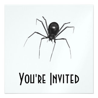 Big Black Creepy 3D Spider Personalized Invites