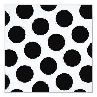 Big Black Diagonal Dots 13 Cm X 13 Cm Square Invitation Card