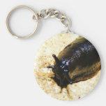 Big Black Slug Basic Round Button Key Ring
