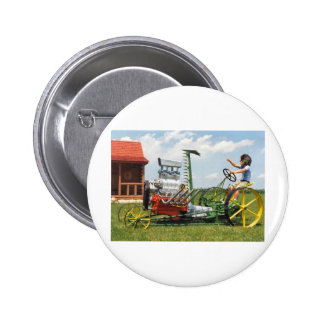 Big Block Lawn Mower 6 Cm Round Badge
