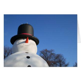 Big blowup snowman card