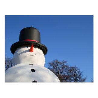 Big blowup snowman post cards