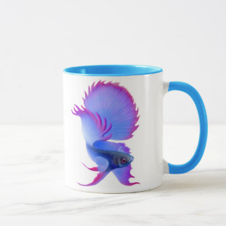 Big Blue Betta Fish Mug