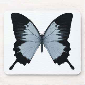 Big Blue & Black Butterfly Mouse Pad